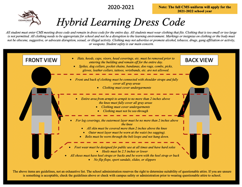 Hybrid Learning Dress Code