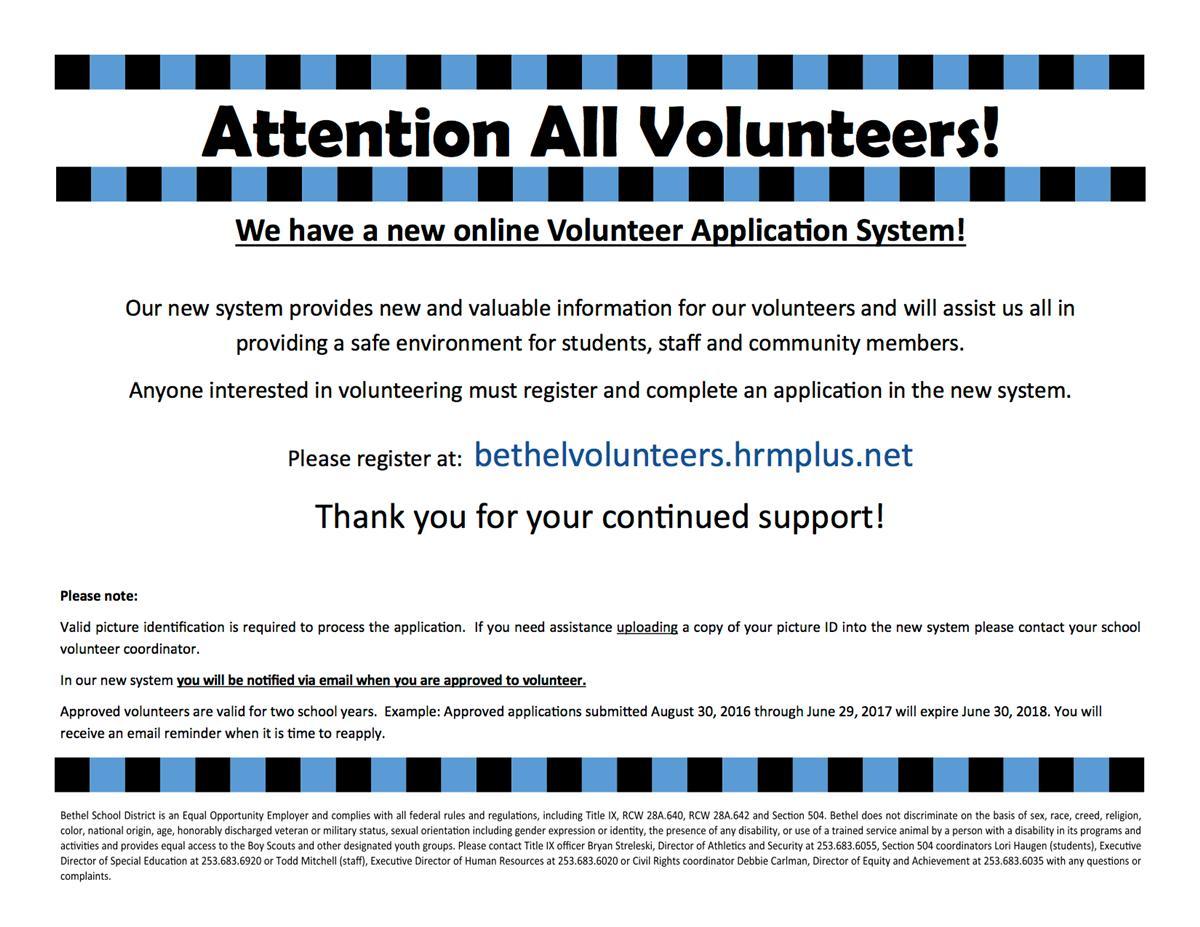 volunteer applications