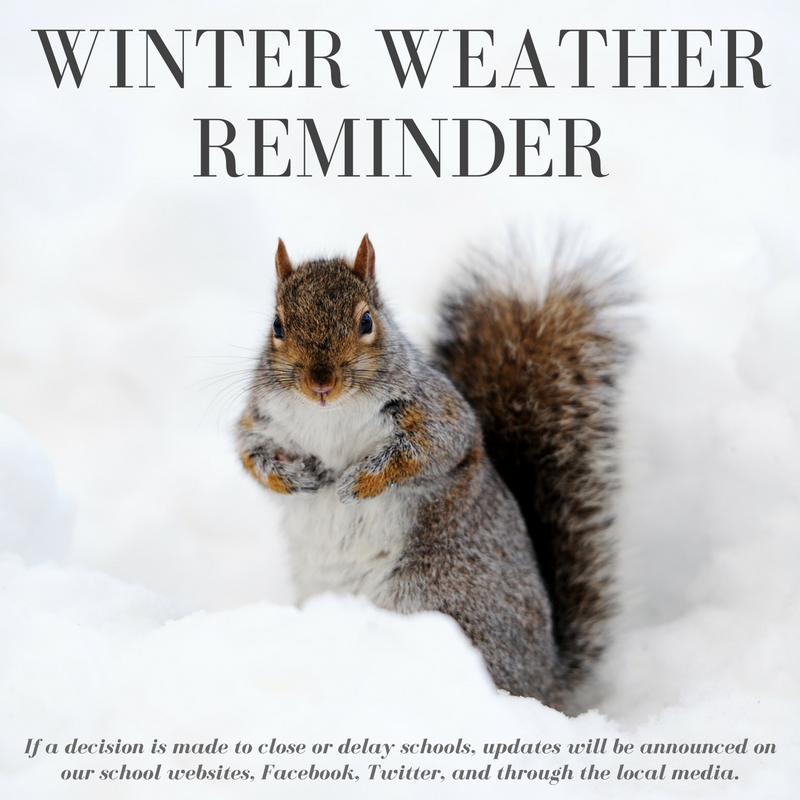 Winter weather reminder