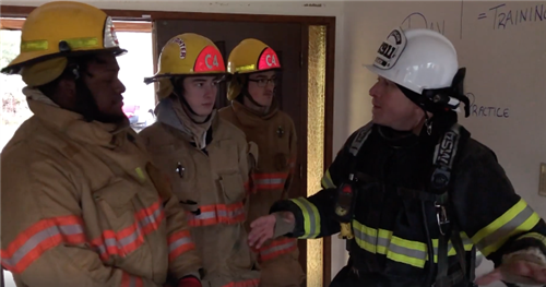 Fire Science students train with Graham Firefighters
