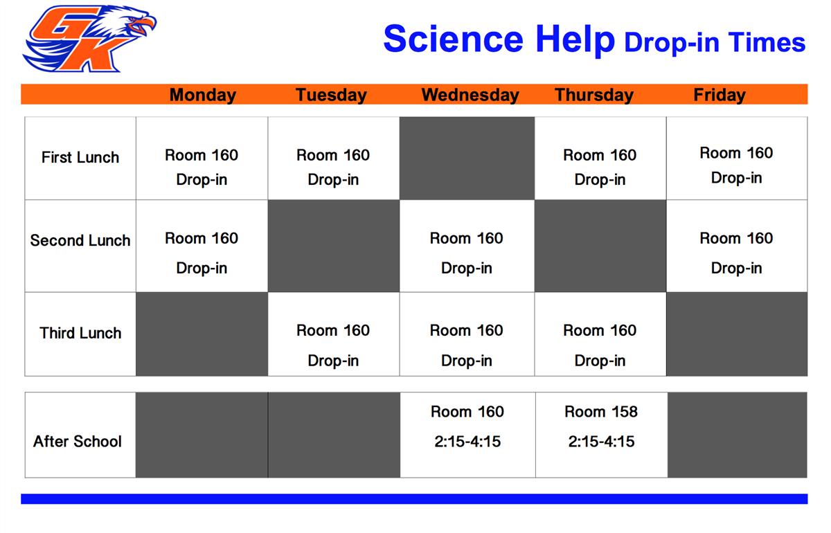 science help schedule