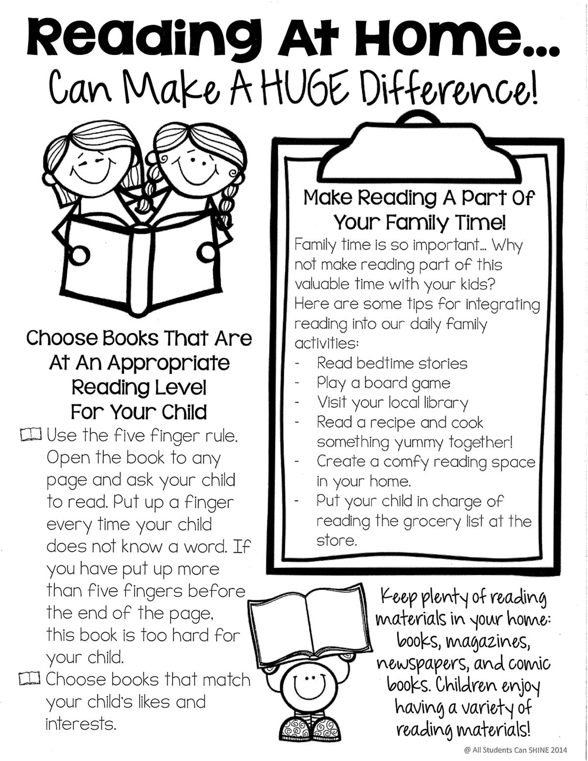 Reading At Home Flyer