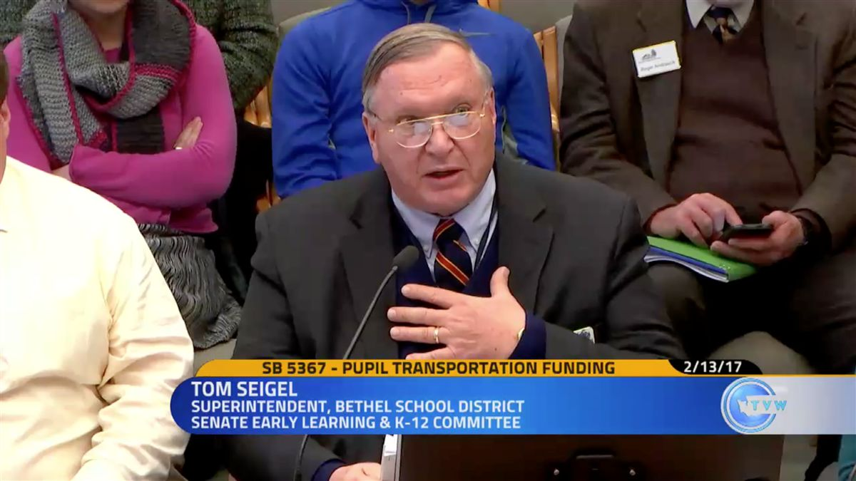 Tom Seigel testifies about SB 5367